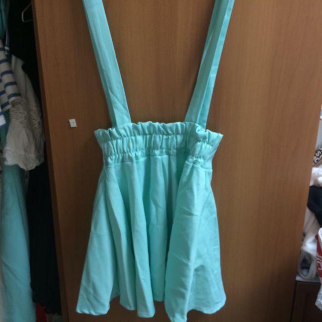 蒂芬尼綠吊帶裙