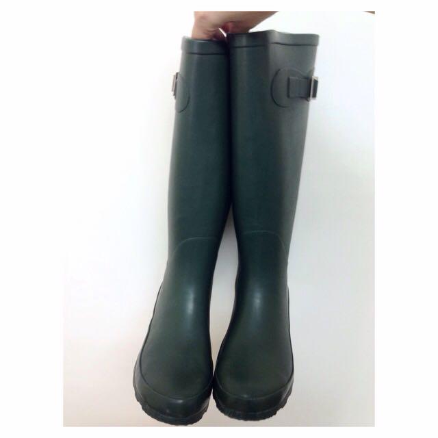 ☔️墨綠色長雨靴☔️