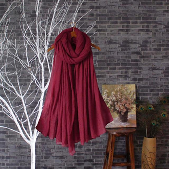 含運/飄飄質感柔軟超大 圍巾 披肩 -紅色系