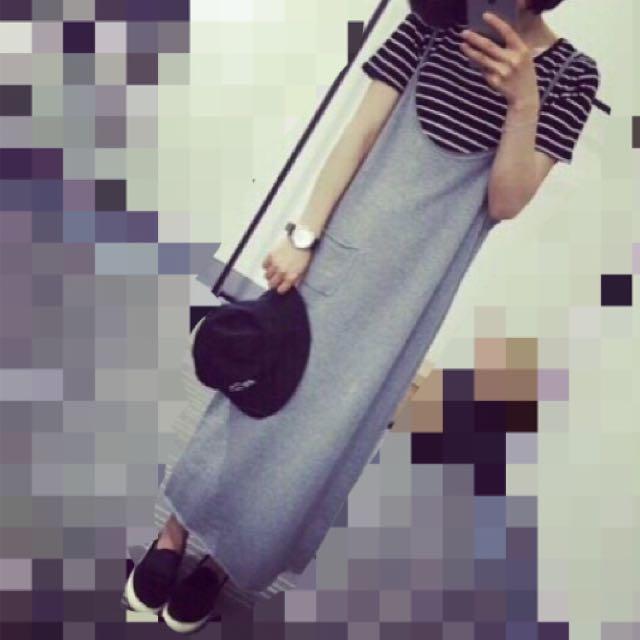 背心長裙 黑 / 灰 / 2色  現貨