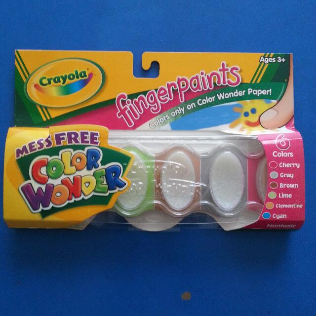 Bn Crayola 6 Color Wonder Fingerpaints Babies Kids Toys