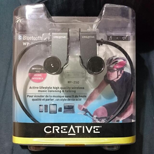 (BNIB) CREATIVE Bluetooth Sports earphone w/ Mic WP-250 $40