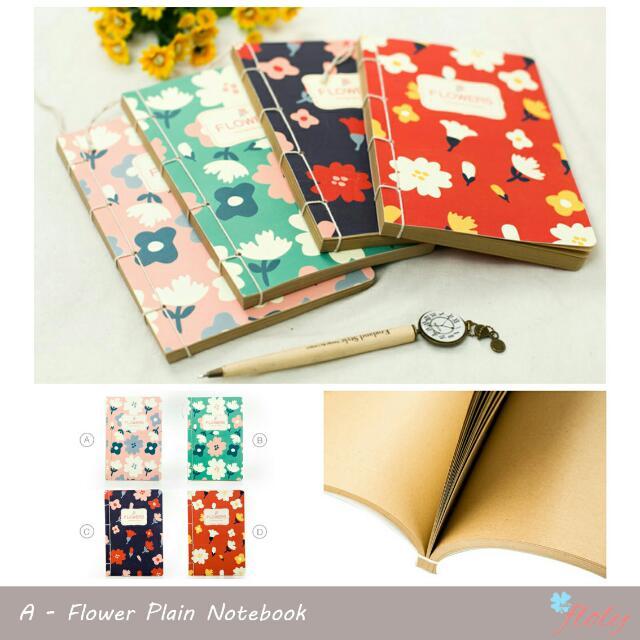 Flower Plain Notebook