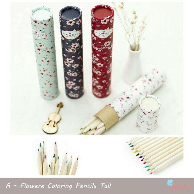 Flowere Coloring Pencils Tall