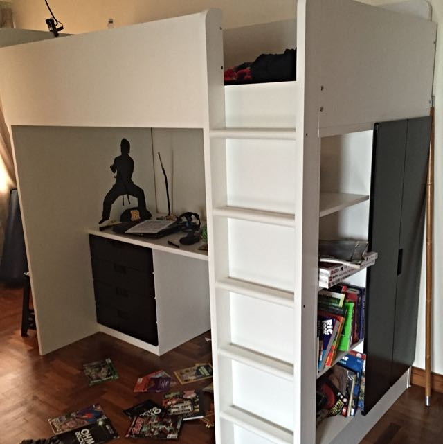 Ikea Stuva Loft Bed With Shelves And Desk Furniture On