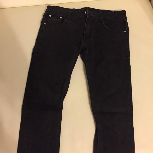 M.W窄管彈性牛仔褲