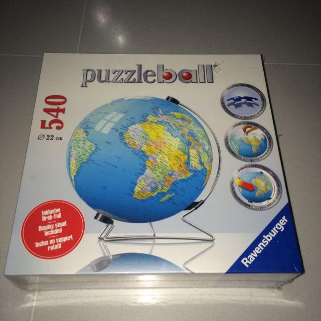 Sealed brand new ravensburger 540 pieces earth world map globe photo photo gumiabroncs Choice Image