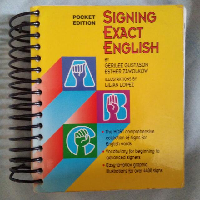 Signing Exact English - Pocket Edition