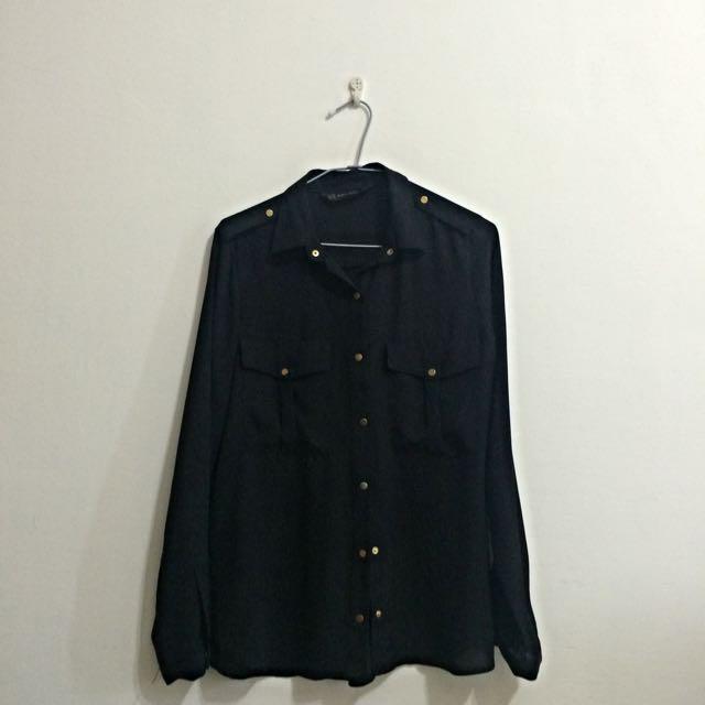 Zara黑色襯衫