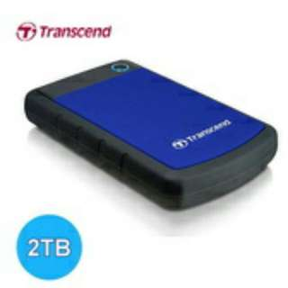 Transcend Triple Protection Military grade Shockproof Portable Hard Drive Storage 25H3 Usb3.0 2TB Brand New