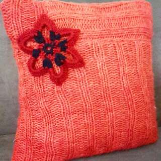 Red Decorative cushion cover