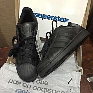 Adidas Superstar AF5666 全黑復古貝殼鞋