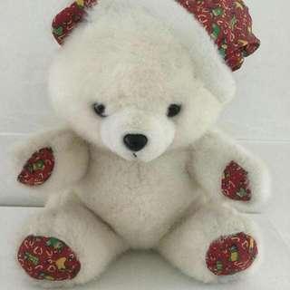 【玩偶】耶誕帽大白熊布娃娃