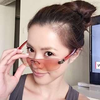 粉色系時尚太陽眼鏡