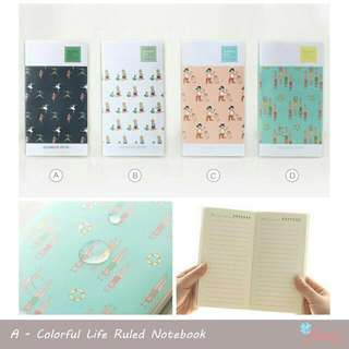 Colorful Life Ruled Notebook