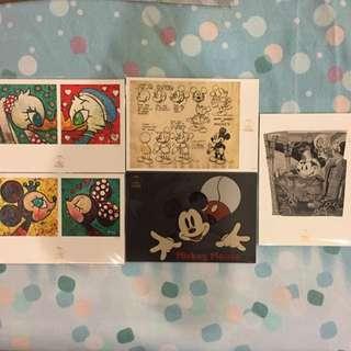 迪士尼90週年紀念展 明信片 米奇 米妮 唐老鴨 黛西