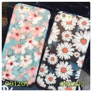 I Phone6/6+ 花系列🌹百合藍菊花手機軟殼