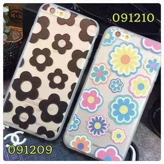 I Phone6/6+花系統🌹黑花/彩花透明手機軟殼