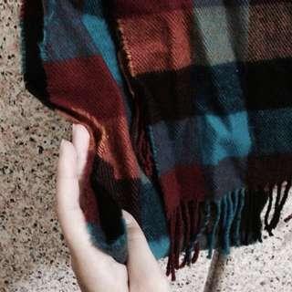 ✨小披肩格子圍巾