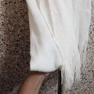 ✨質感超好氣質簡約白色圍巾