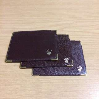 Rolex Presidential Leather Card Holder