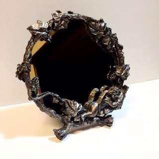 古著小物 古董小天使銅鏡 化妝鏡