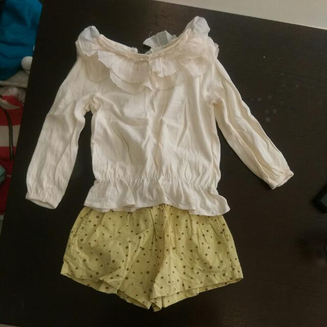 韓國的5號上衣及7號褲子,版子小,材質很舒服,下水過
