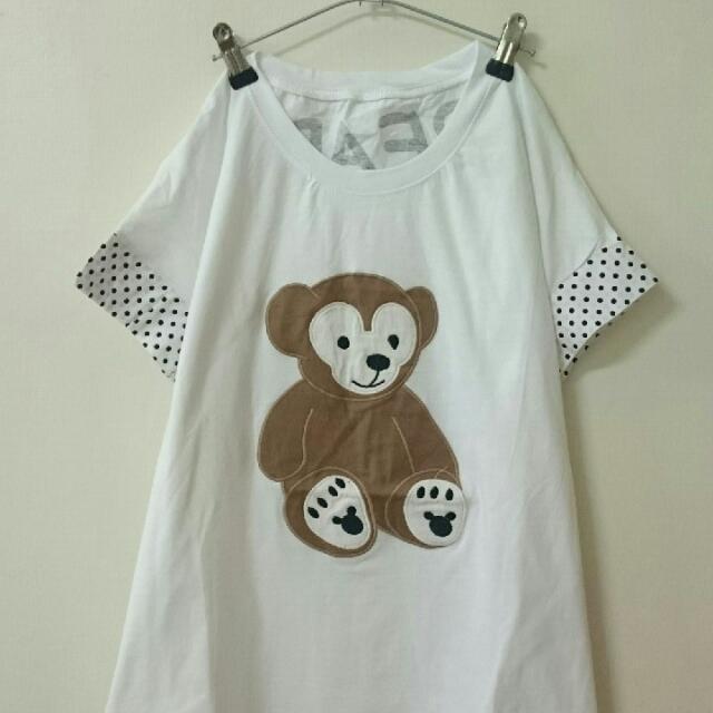 日系熊熊長版上衣