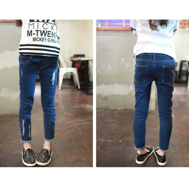 韓版中小童修身牛仔褲