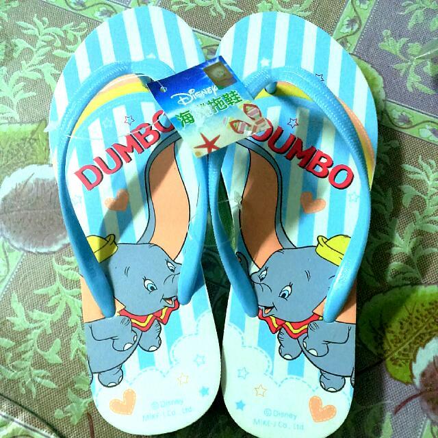 迪士尼小飛象海灘拖鞋