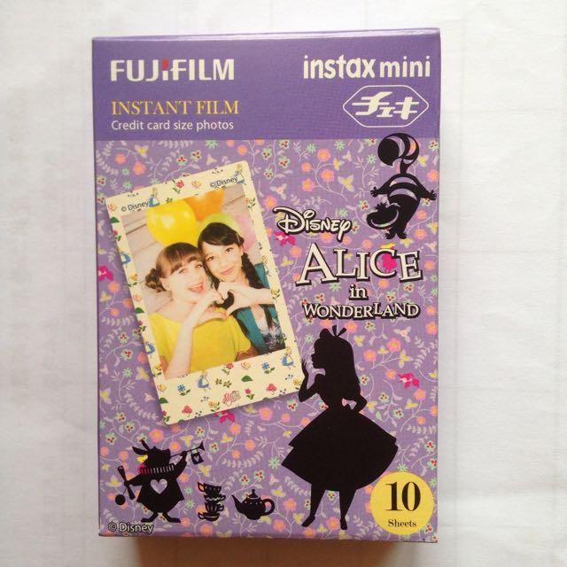 日本帶回 富士 拍立得 底片-迪士尼 愛麗絲夢遊仙境