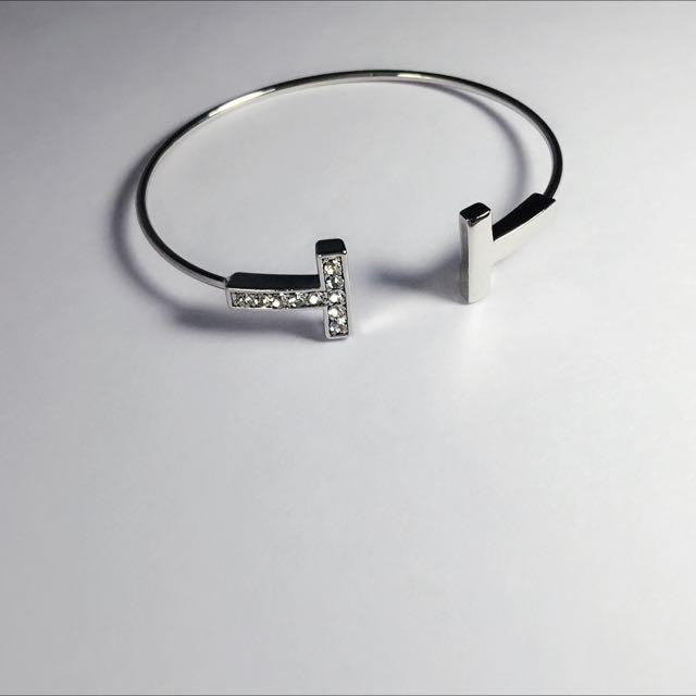 全新正韓 T字型水鑽手環