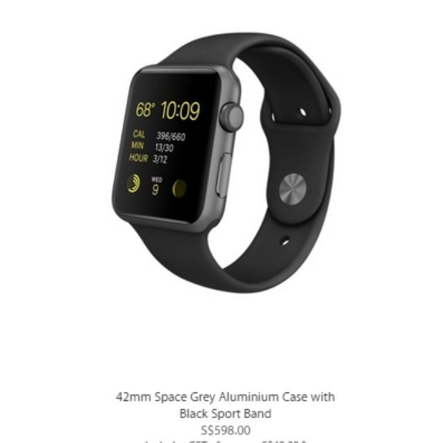 (BNIB) 42mm Apple Watch Sports Black Space Grey - Priced to Sell!