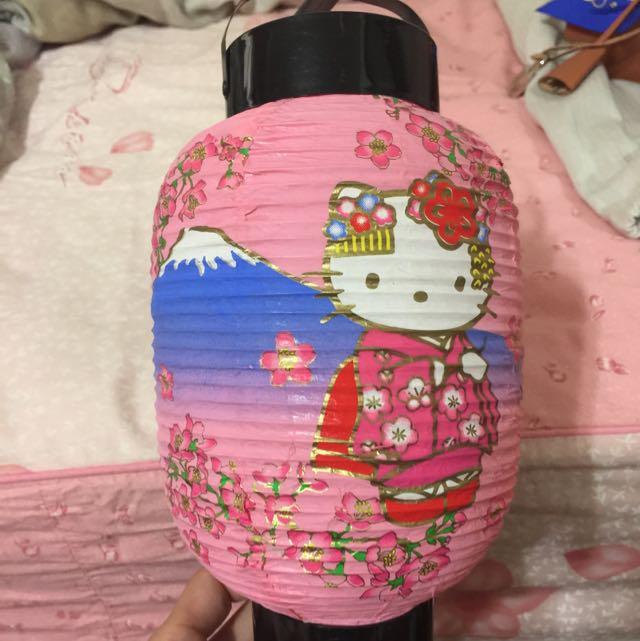 日本帶回hello Kitty 紙燈籠
