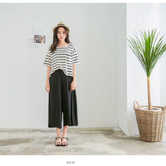 《轉賣》joyce Shop 棉質寬褲(黑)