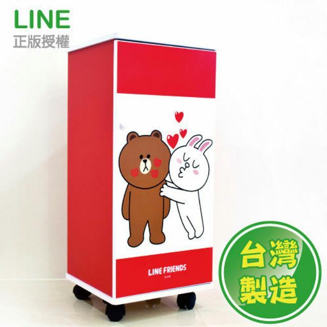 Line熊大😎滾輪拉門三層櫃