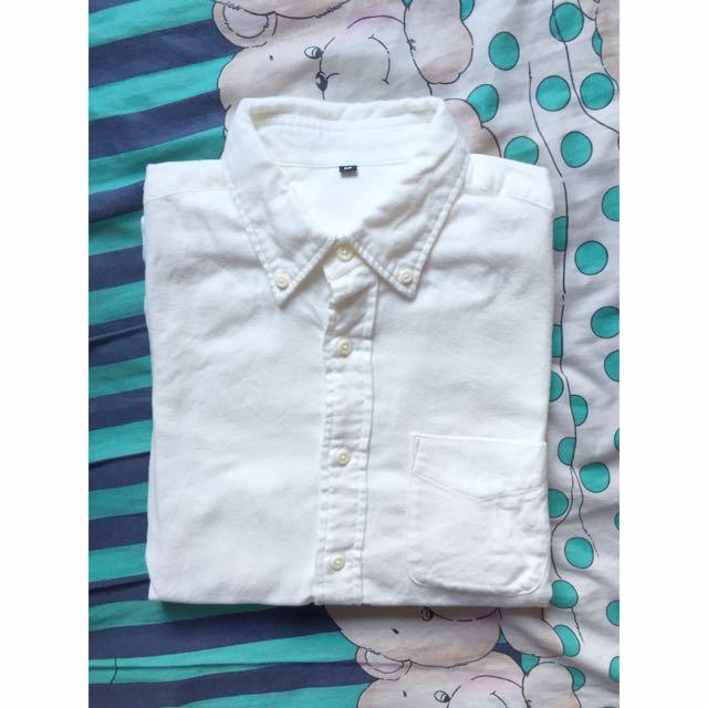 [MUJI無印良品]男有機棉法蘭絨扣領襯衫
