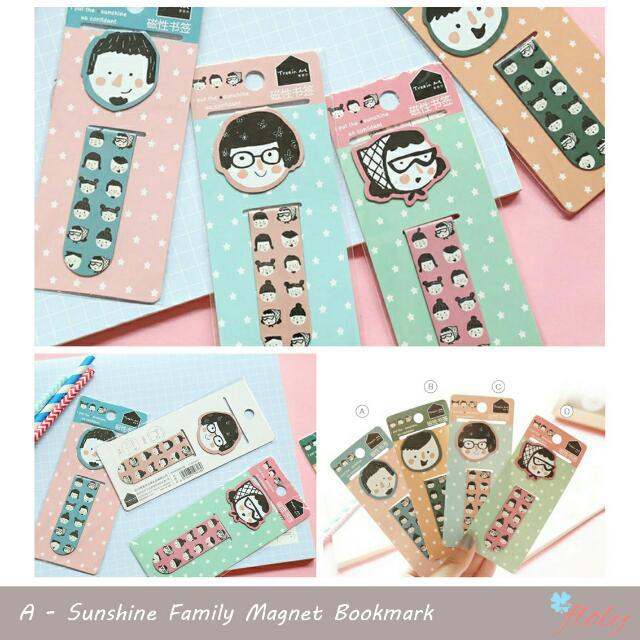 Sunshine Family Bookmark