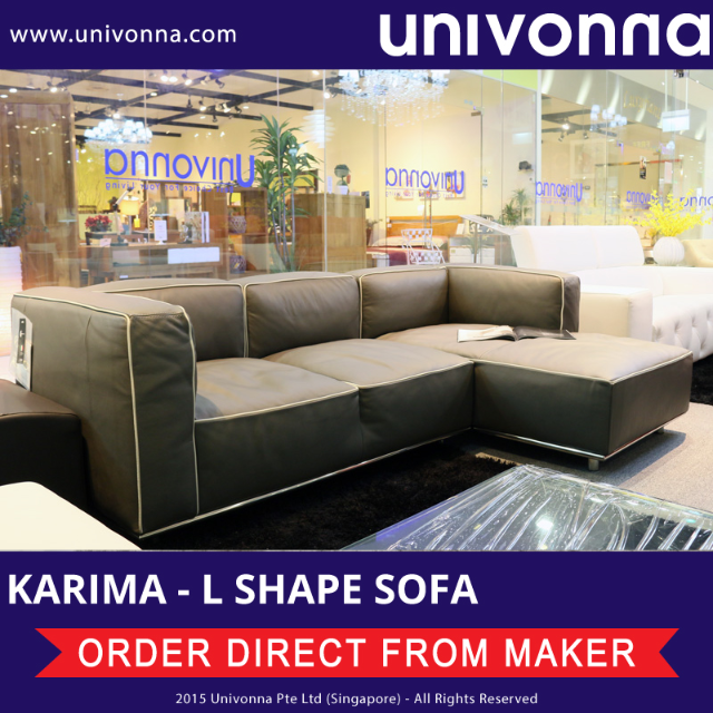 univonna karima imported italy 100 cowhide leather l shaped rh sg carousell com