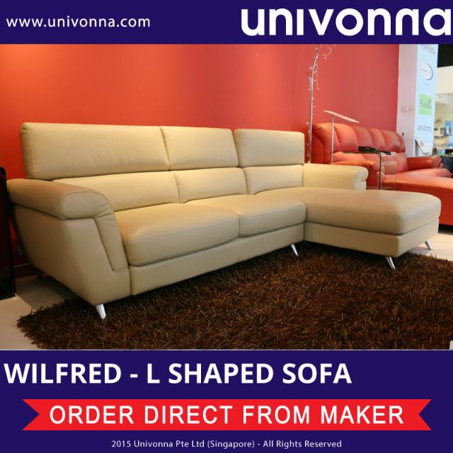 univonna wilfred l shaped sofa half leather display set rh sg carousell com