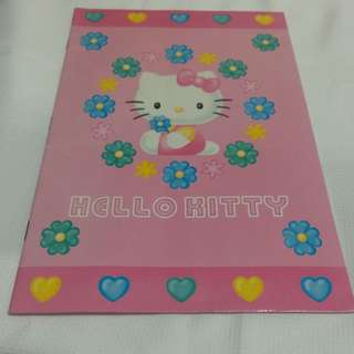 全新粉紅色HELLO KITTY日本限定販售橫條筆記本~歡迎面交