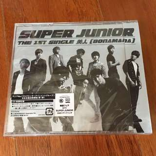 (最後1張)全新SUPER JUNIOR美人日版CD初回限定盤
