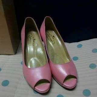 全新,life8粉色魚口高跟鞋,超適合吃喜酒,拜訪男友父母