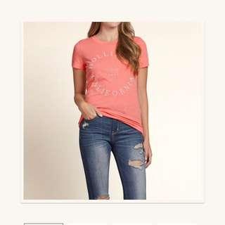 Hollister 粉橘色❤️超粉嫩又顯白😊