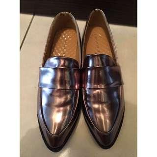 👏🏼(降價)復古銅色亮面鞋