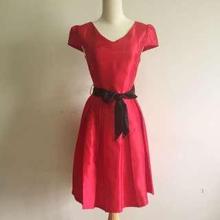 Silk Flare Midi Dress