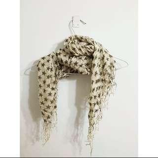 星星絲織圍巾