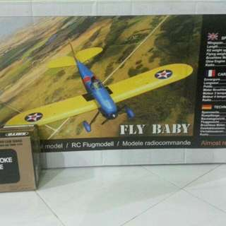 (Price Drop)Fly Baby Rc Plane And Engine