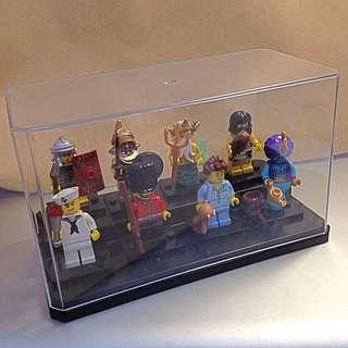 全新-樂高人偶階梯式or平面展示盒 可放八隻人偶噢