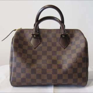 LV N41532 棋盤格紋 Speedy25 波士頓包 Louis Vuitton